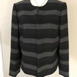 Tahari black and grey stripe jacket